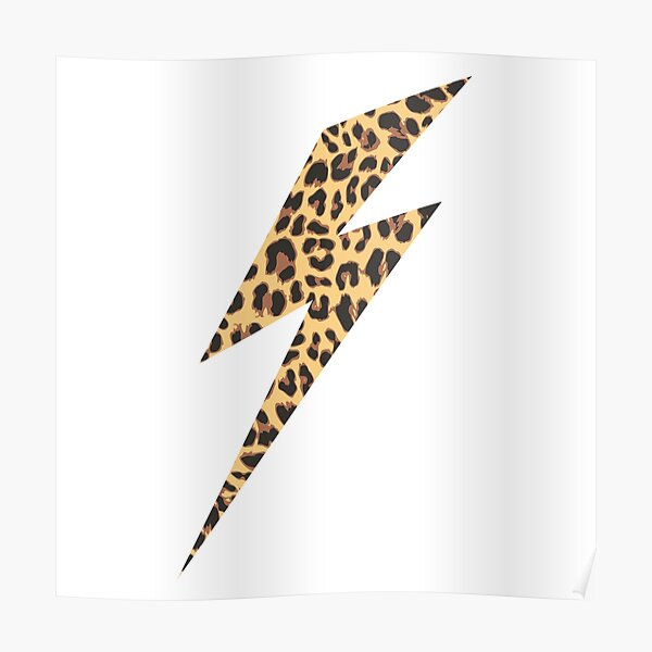Wild Thing Leopard Lightning Bolt Poster