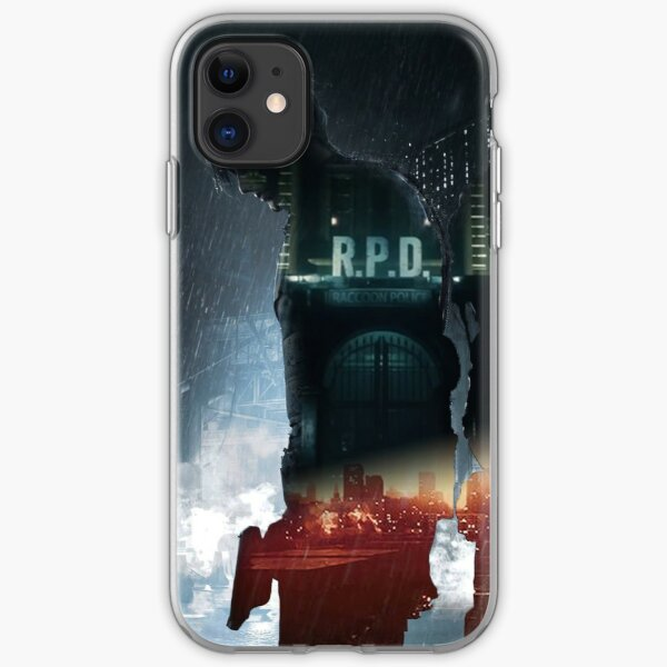 Resident Evil 2 Claire and Leon Poster iPhone Soft Case
