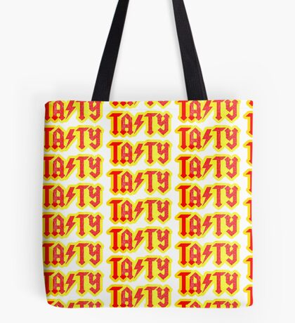 TASTY® Clothing logo spoof of AC-DC Tote Bag