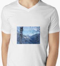 Winter scene Men's V-Neck T-Shirt