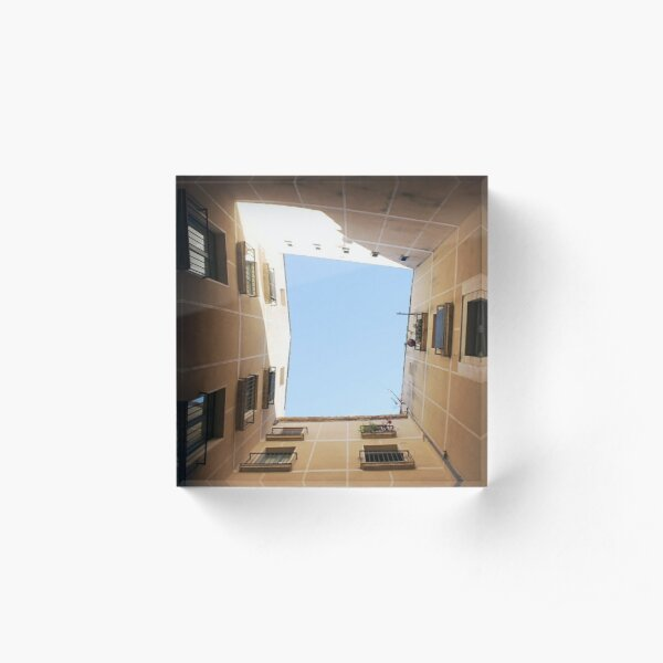 #Sky #indoors, #architecture, #museum, #house, #domesticlife, #day, #builtstructure, #light Acrylic Block