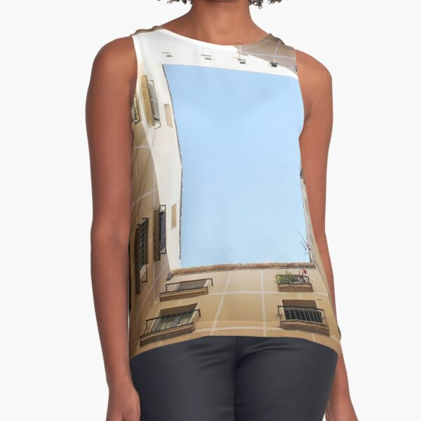 #Sky #indoors, #architecture, #museum, #house, #domesticlife, #day, #builtstructure, #light Sleeveless Top