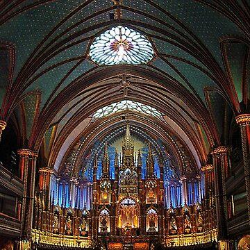 Chancel Notre-Dame Basilica Montreal by woodeye518