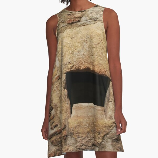 #Wall #AncientHistory, #history, #architecture, #old, #ancient, #brick, #outdoors, #OldRuin, #archaeology A-Line Dress