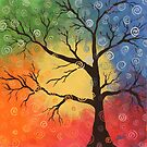 Whimsical tree of color by tinymystic