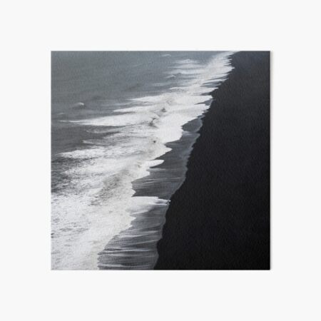 Black Sand Beach, Iceland Art Board Print