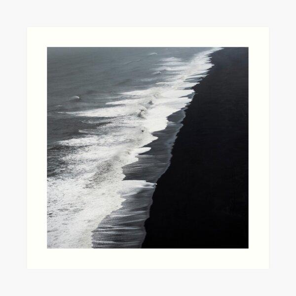 Black Sand Beach, Iceland Art Print