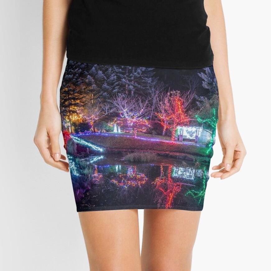 Christmas Lights at the Japanese Gardens Mini Skirt