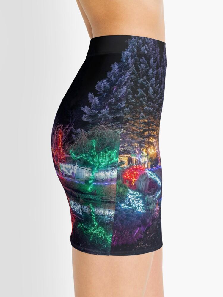 Alternate view of Christmas Lights at the Japanese Gardens Mini Skirt