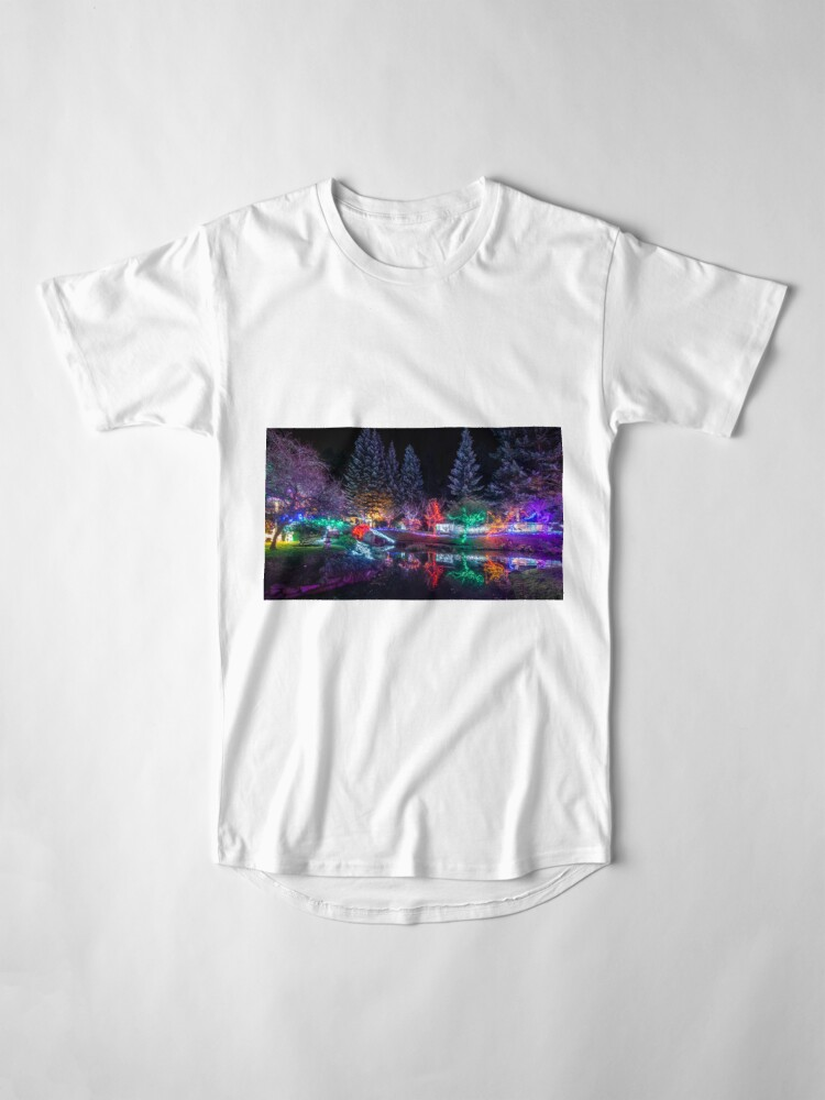 Alternate view of Christmas Lights at the Japanese Gardens Long T-Shirt