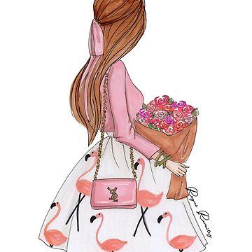 Flamingo girl red hair  by reyniramirezfi