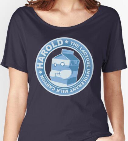 Harold: The Lactose Intolerant Milk Carton Women's Relaxed Fit T-Shirt