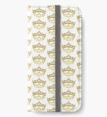 Queen of Hearts gold crown tiara by Kristie Hubler iPhone Wallet/Case/Skin