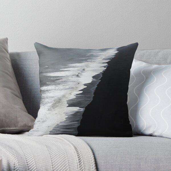Black Sand Beach, Iceland Throw Pillow
