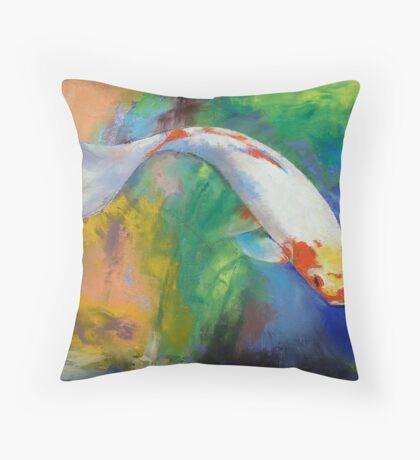 Koi Art Pirouette Throw Pillow