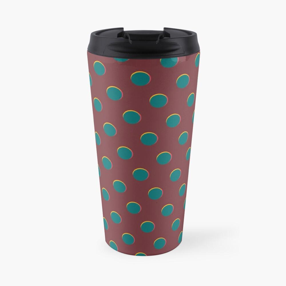 Pattern design - Red and blue dot Travel Mug