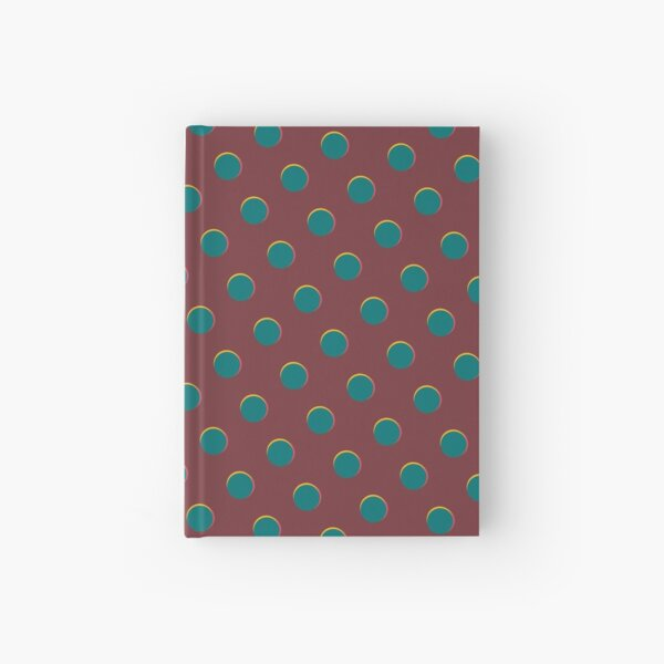 Pattern design - Red and blue dot Hardcover Journal