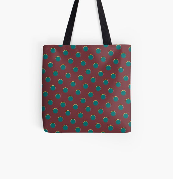 Pattern design - Red and blue dot All Over Print Tote Bag