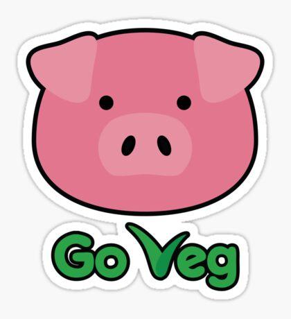 Piggy-Go Veg Sticker