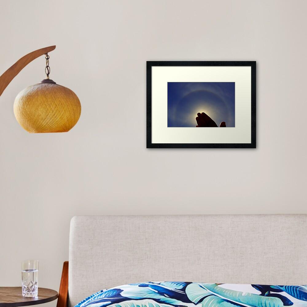 Solar Halo Framed Art Print