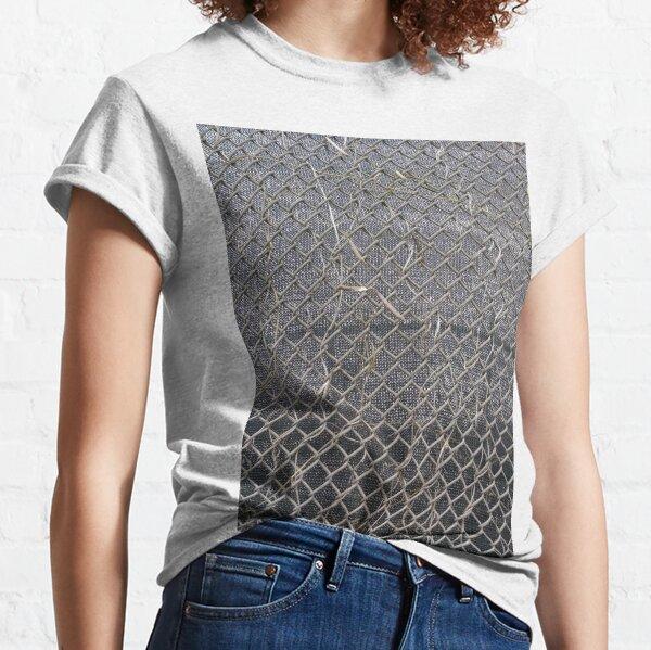 #pattern, #abstract, #design, #wallpaper, #rough, #net, #grid, #textured Classic T-Shirt