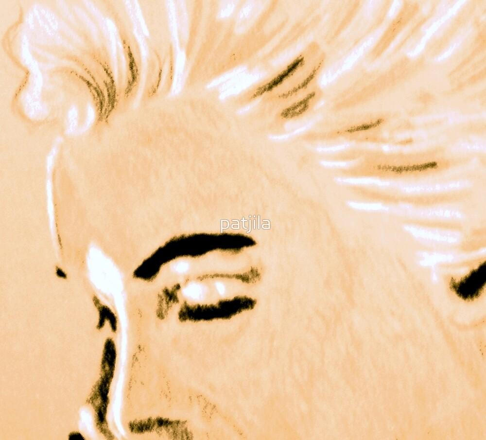 Marilyn Monroe detail portrait by patjila