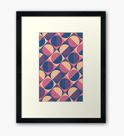 Sunset Retro  Framed Print