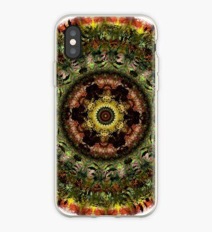 African Dusk mandala iPhone Case