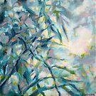 « Douceur nature en bleu et mauve » par Fabienne Monestier
