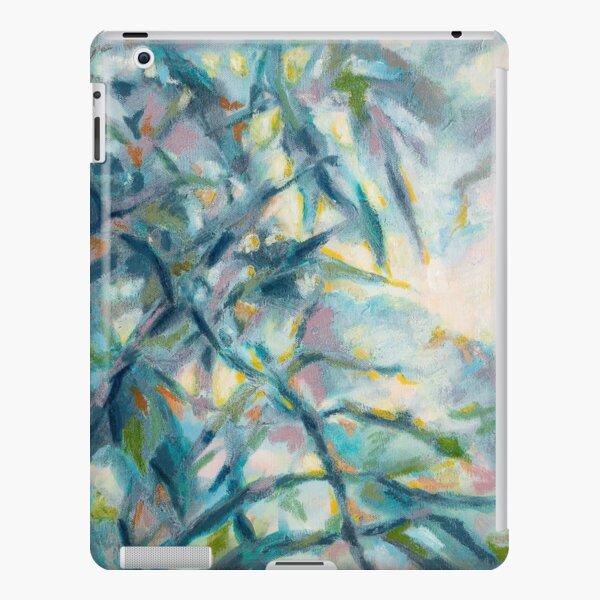 Douceur nature en bleu et mauve Coque rigide iPad