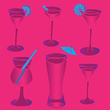 Pink Cocktails by zeljkica