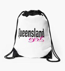Queensland Girl Australia Raised Me Drawstring Bag