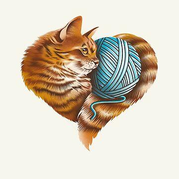 Heart Cat by dandingeroz