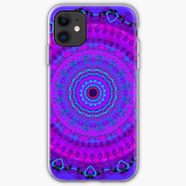 Purple Psyche Mandala iPhone Soft Case