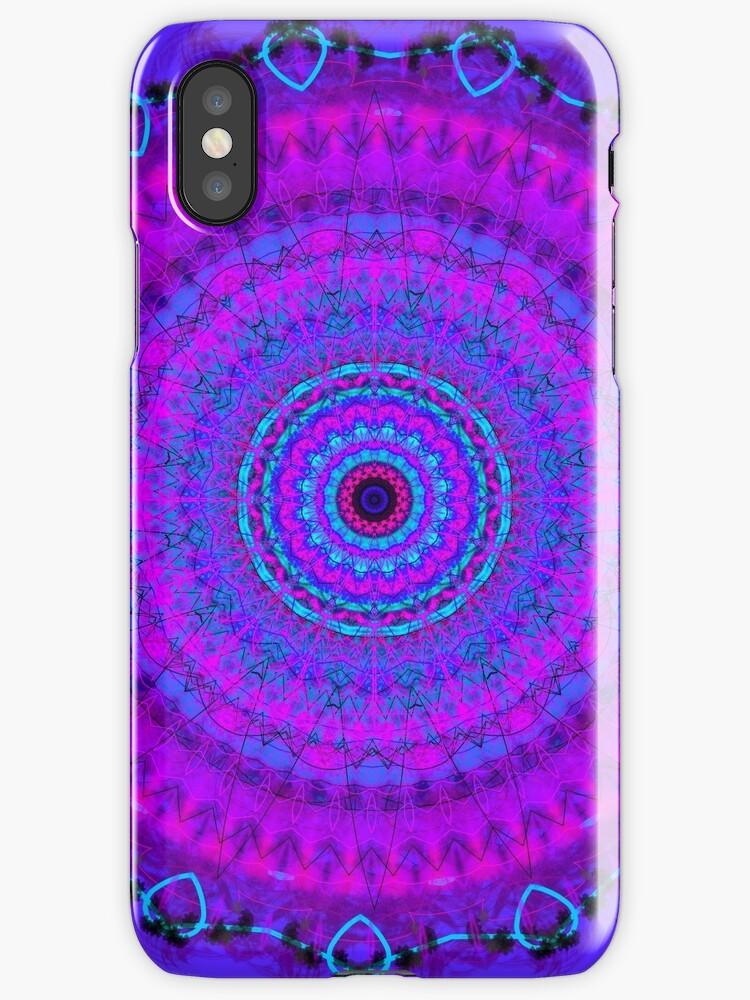 Purple Psyche Mandala by Vicki Field