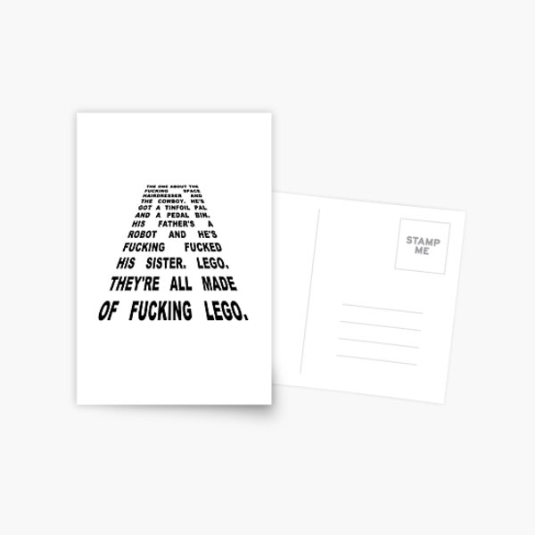 The Thick of It Star Wars Malcolm Tucker Quote Postcard
