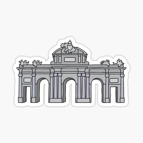 Puerta de Alcalá de Madrid Pegatina