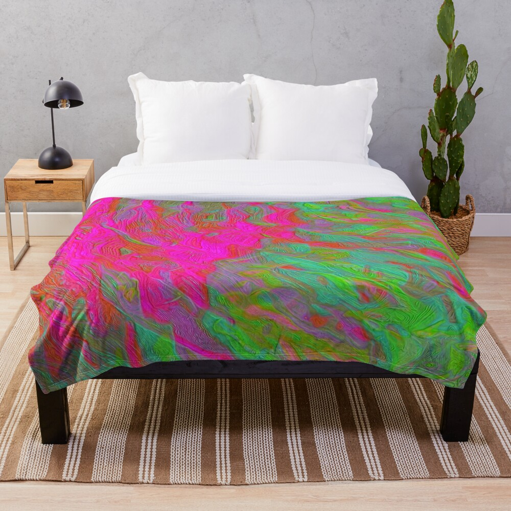 Abstract digital painting Throw Blanket