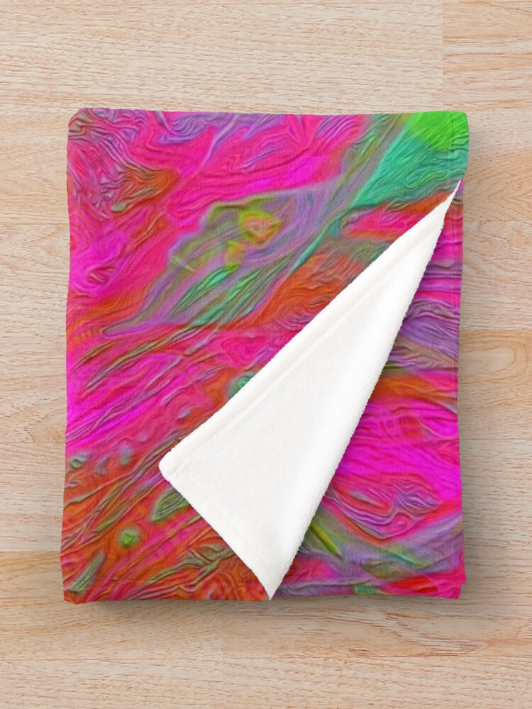 Alternate view of Abstract digital painting Throw Blanket