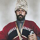 Cossack man from the steppes of Russia - Ellis Island, 1907 by Marina Amaral
