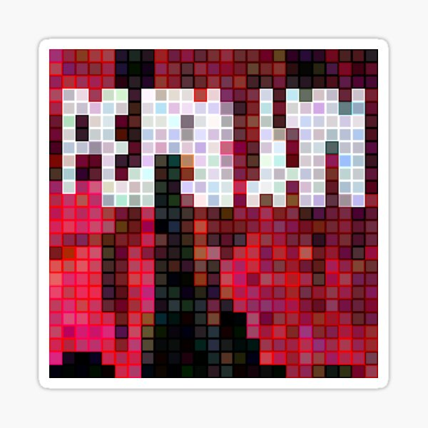 Pixelated Famous Albums - 71 of 100 Sticker