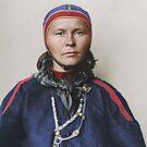 Sami woman from Finland - Ellis Island, 1907 by Marina Amaral