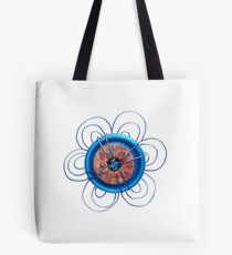 Rusty Button Flower Tote Bag