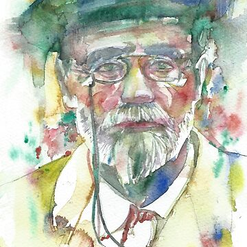 EMILE ZOLA - watercolor portrait by lautir