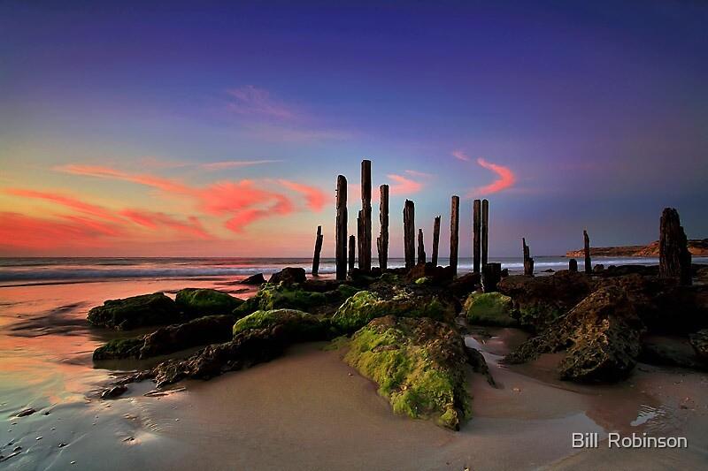 Port Willunga Sunset by Bill  Robinson