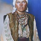 Ruthenian woman - Ellis Island, 1907 by Marina Amaral