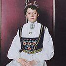 Norwegian woman - Ellis Island, 1907 by Marina Amaral
