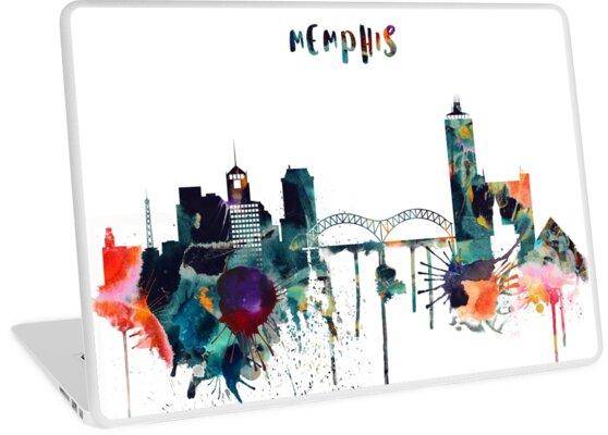 Aquarell Memphis Skyline von IvonDesign