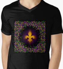 Mardi Gras Men's V-Neck T-Shirt