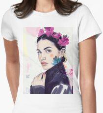 FLORAL BIKER Women's Fitted T-Shirt